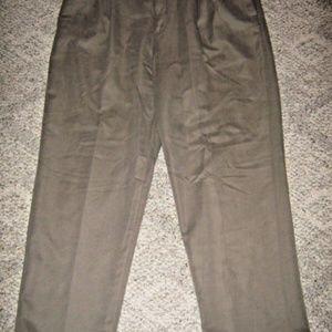 Dark Tan Pleat Stretch Panel Waist Dress Pants 40